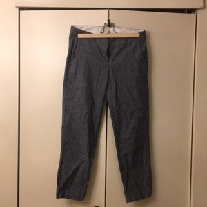 J. crew Linen Chambray Crop Pants